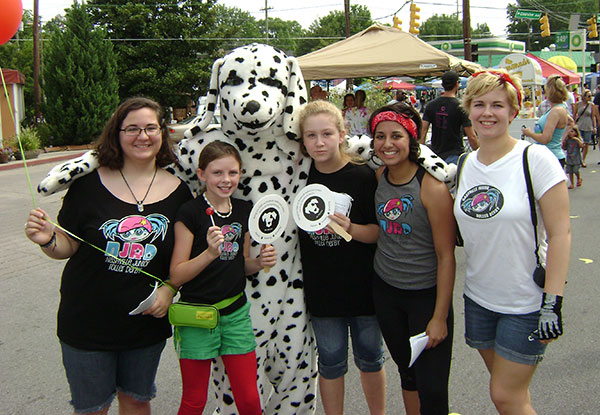 dog spot mascot group